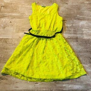 Delia*s Neon Lace Dress